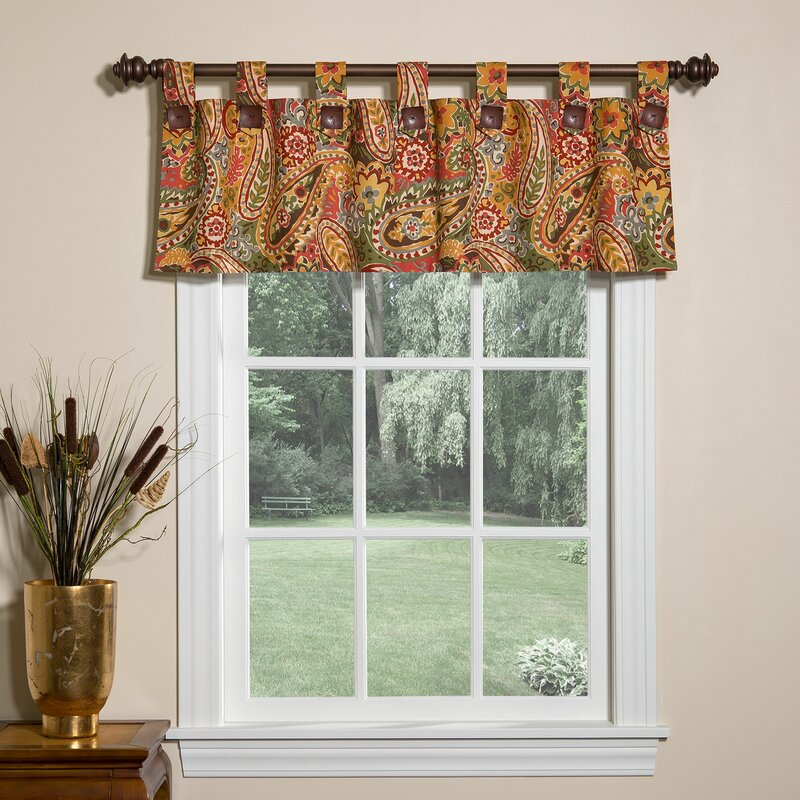 Breeze Lined Tab 52 Window Valance
