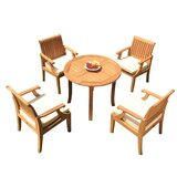 Jerrold 5 Piece Teak Dining Set
