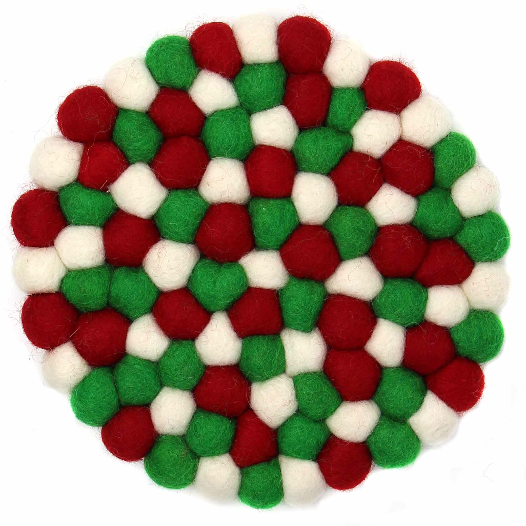 The Holiday Aisle Hand Crafted Felt Ball Trivet Wayfair