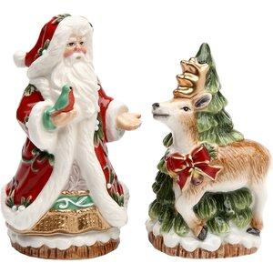 Santa & Reindeer Salt & Pepper Shaker Set