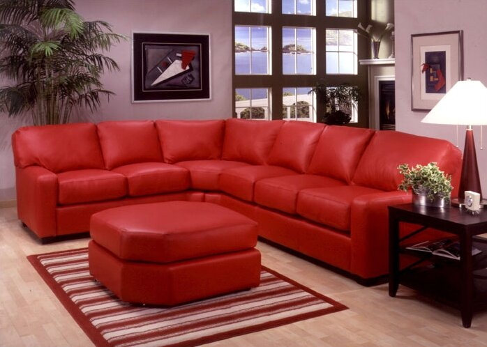 Albany Leather Sectional : leather sectional brown - Sectionals, Sofas & Couches