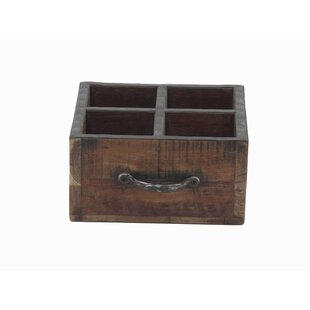 Gazaway Rustic Rectangular Wood 4 Bottle ..
