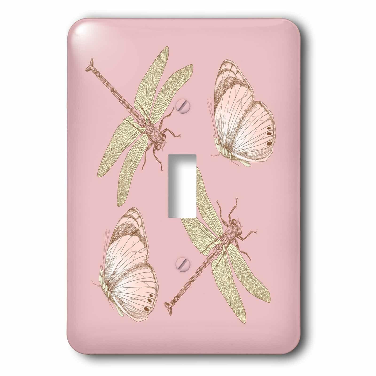 3drose Dragonflies And Butterflies 1 Gang Toggle Light Switch Wall Plate Wayfair