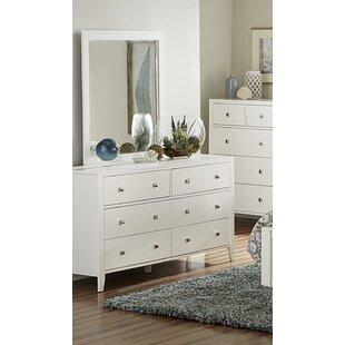 Viv + Rae Granville 6 Drawer Double Dresser with Mirror
