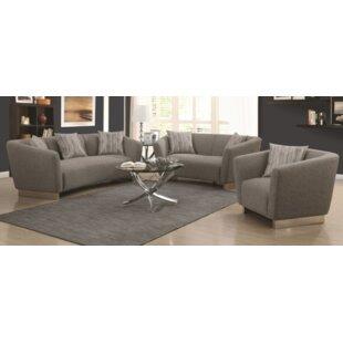 Orren Ellis Rivet 3 Piece Living Room Set