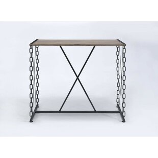 Callis Industrial Rectangular Wood And Metal Pub Table 2019 Sale