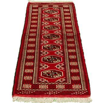 Bloomsbury Market Ahijah Hand Knotted Wool Red Beige Rug Wayfair