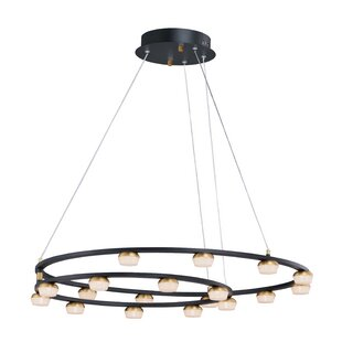Gaddis 18-Light LED Geometric Chandelier by Wrought Studio