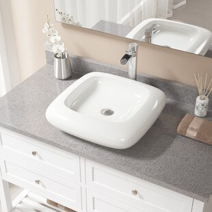 Compare & Buy Pillow Top Vitreous China Square Vessel Bathroom Sink with Faucet ByMR Direct