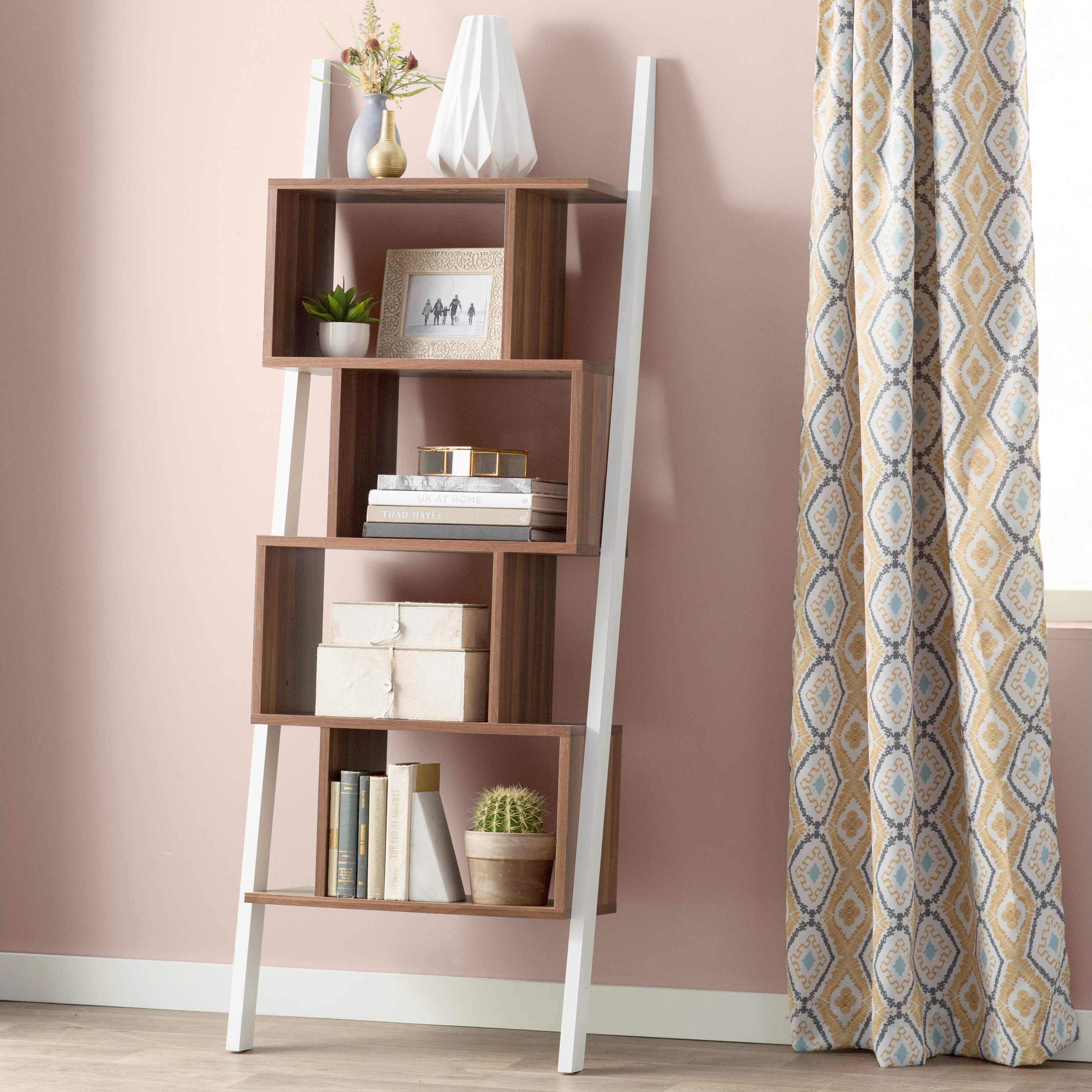 hazelwood uk co reviews white wayfair bookshelf home pdp bookcase furniture ladder