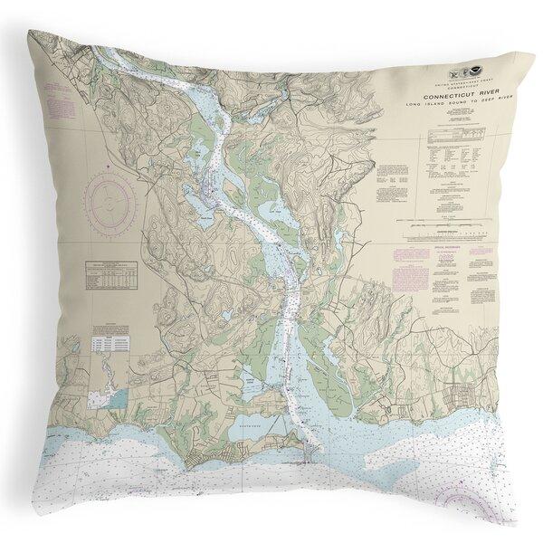 Highland Dunes Radstock Connecticut River Ct Nautical Map Indoor Outdoor Lumbar Pillow Wayfair