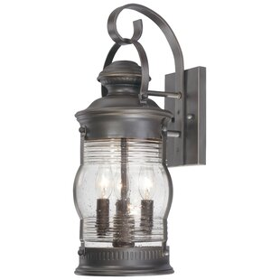 Beachcrest Home Laxford 3-Light Outdoor Wall Lantern