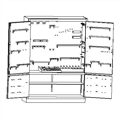 """84"""" H x 60"""" W x 22"""" D Storage Cabinet"""