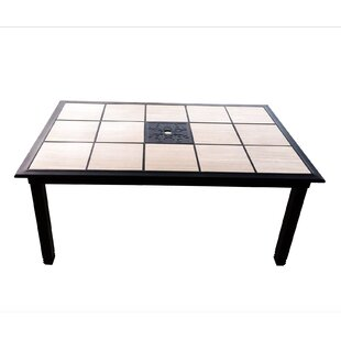 Crest Tile Aluminum Dining Table