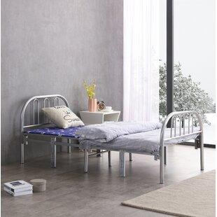 Keli Steel Silver Folding Bed by Ebern Designs