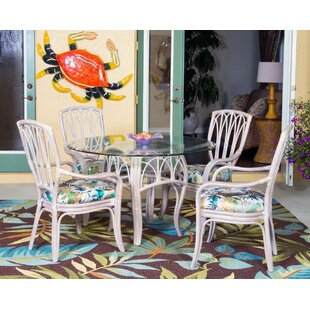 Presley Coastal 5 Piece Breakfast Nook Wo..
