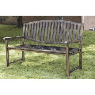 Katelyn Slatted Metal Park Bench