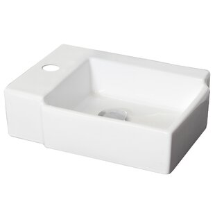 Bargain Ceramic Rectangular Vessel Bathroom Sink By American Imaginations