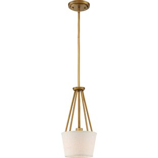 Best Reviews Bellvue 1-Light Cone Pendant By Breakwater Bay