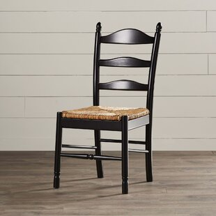 Emilia Solid Wood Dining Chair August Grove