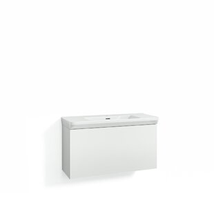 Philomene 100cm Wall-Mounted Vanity Unit Base By Ebern Designs