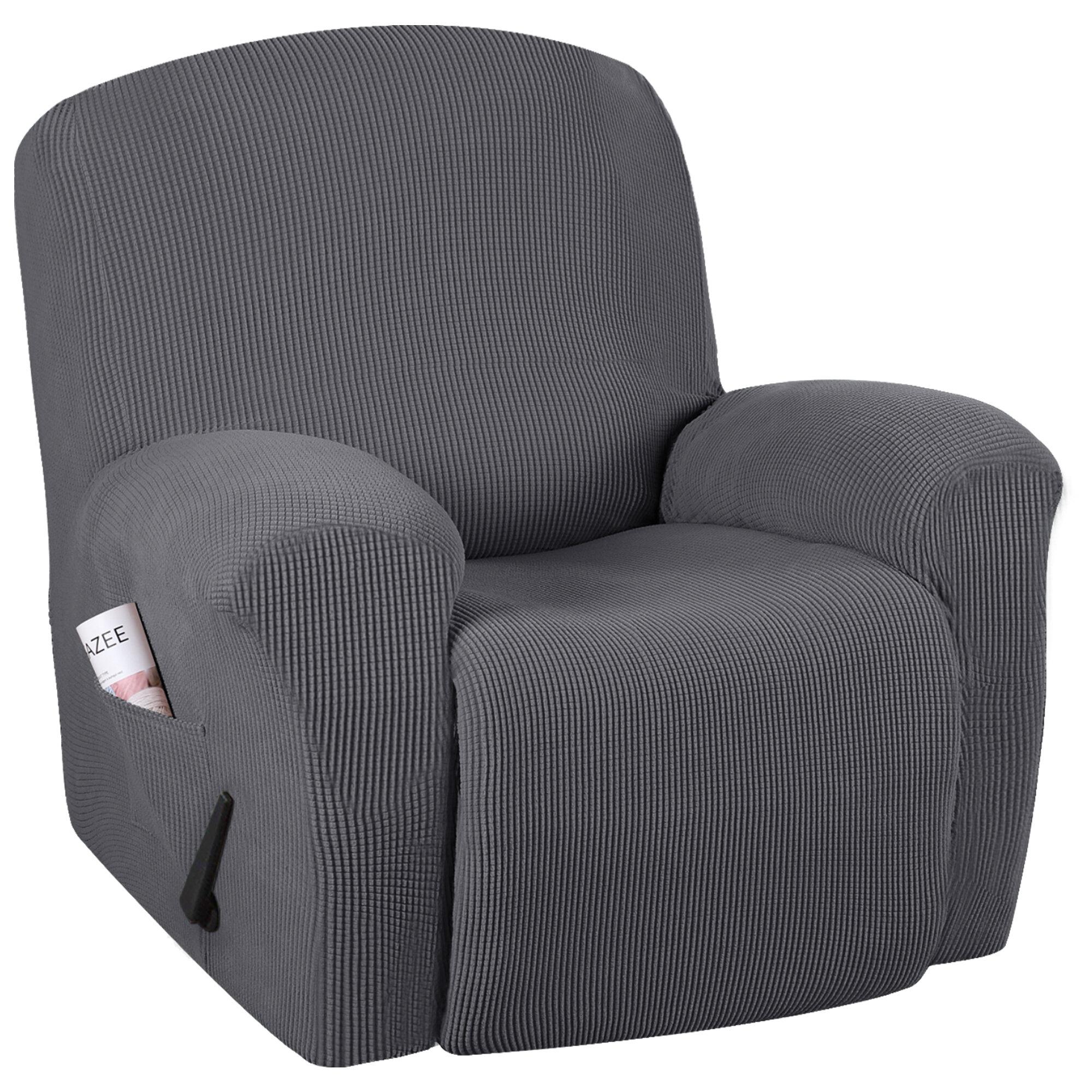 Red Barrel Studio Spandex Box Cushion Recliner Slipcover Reviews Wayfair
