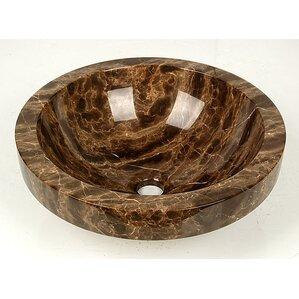 Natural Stone ApronCircular Vessel Bathroom SinkNatural Stone Onyx Bathroom Sink   Wayfair. D Vontz Natural Marble Vessel Single Sink Bathroom Vanity Top. Home Design Ideas