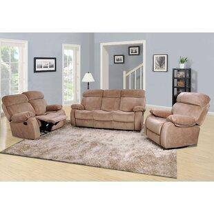 Meniru Reclining 3 Piece Living Room Set by Red Barrel Studio