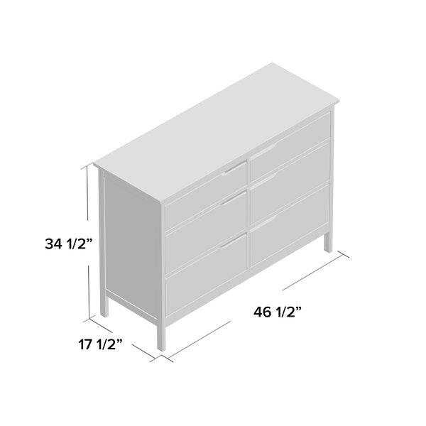 Arlot 6 Drawer Double Dresser Reviews Allmodern