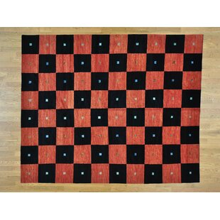 Affordable One-of-a-Kind Becker Checkerboard Design Handwoven Wool Area Rug By Isabelline