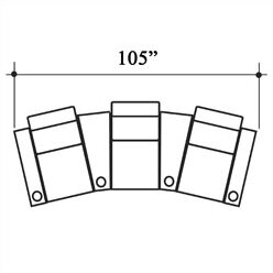 Penthouse Home Theater Row Seating Row of 3