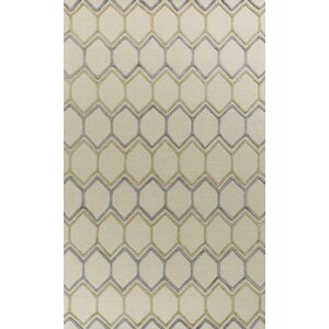 Buckleys Honeycomb Hand-Tufted Wool Ivory Area Rug