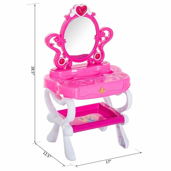 info for a2626 c0e30 Belgrade Kids Piano Princess Pretend Play Vanity Set with Mirror