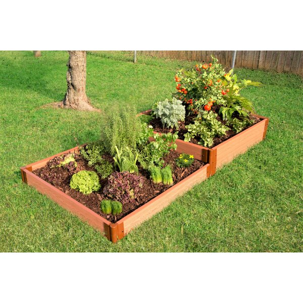 Frame It All Tool Free Classic Sienna Two Inch Series Terraced 8 Ft X 4 Ft Composite Raised Garden Bed Reviews Wayfair