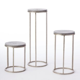 Wise Egg Pedestal End Table (Set of 3) by Studio A Home