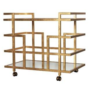 Ireland Linear Bar Cart by Worlds Away