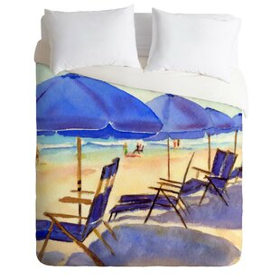 East Urban Home Beach Chairs Duvet Cover Set