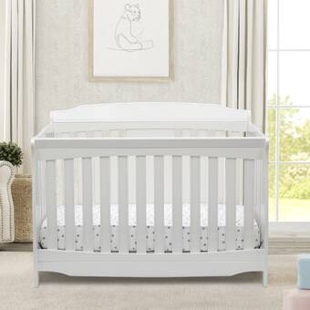 Dark Chocolate Bundle Serta Perfect Slumber Dual Sided Recycled Fiber Core Crib and Toddler Mattress Delta Children Archer Deluxe 6-in-1 Convertible Crib