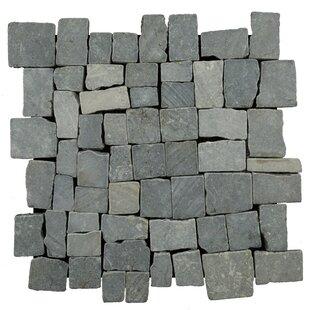 Blocks Random Sized Natural Stone Pebble Tile In Grey