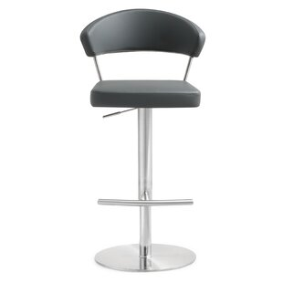 Mcghee Adjustable Height Swivel Bar Stool Orren Ellis