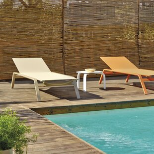 Stack Reclining Chaise Lounge with Table