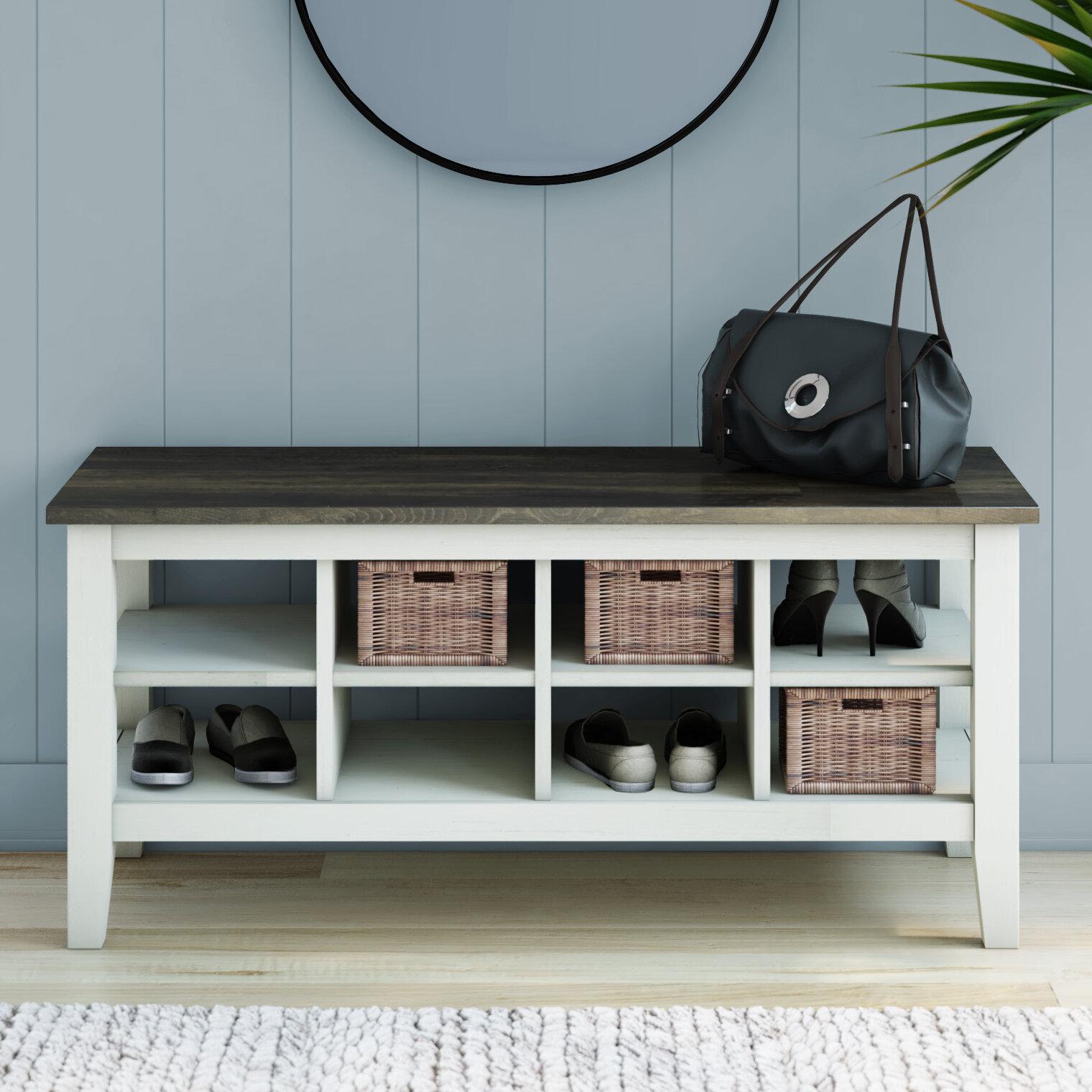 Loon Peak Lorraine Cubby Storage Bench Reviews Wayfair