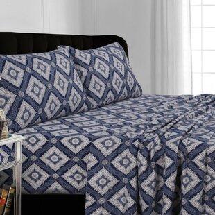 Tribeca Living Damask Flannel Sheet Set