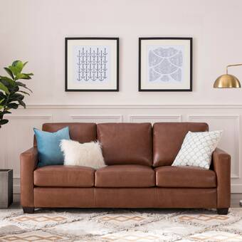 Baronne 86 Genuine Leather Chesterfield Rolled Arm Sofa Reviews Birch Lane