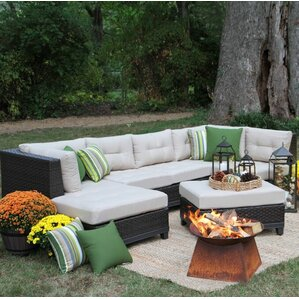 weirton 4 piece sectional with cushions - Sectional Patio Furniture