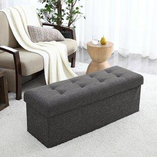 Hiroko Upholstered Flip Top Storage Bench