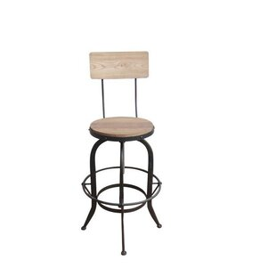 Gracie Oaks Lansdown Adjustable Height Swiel Bar Stool