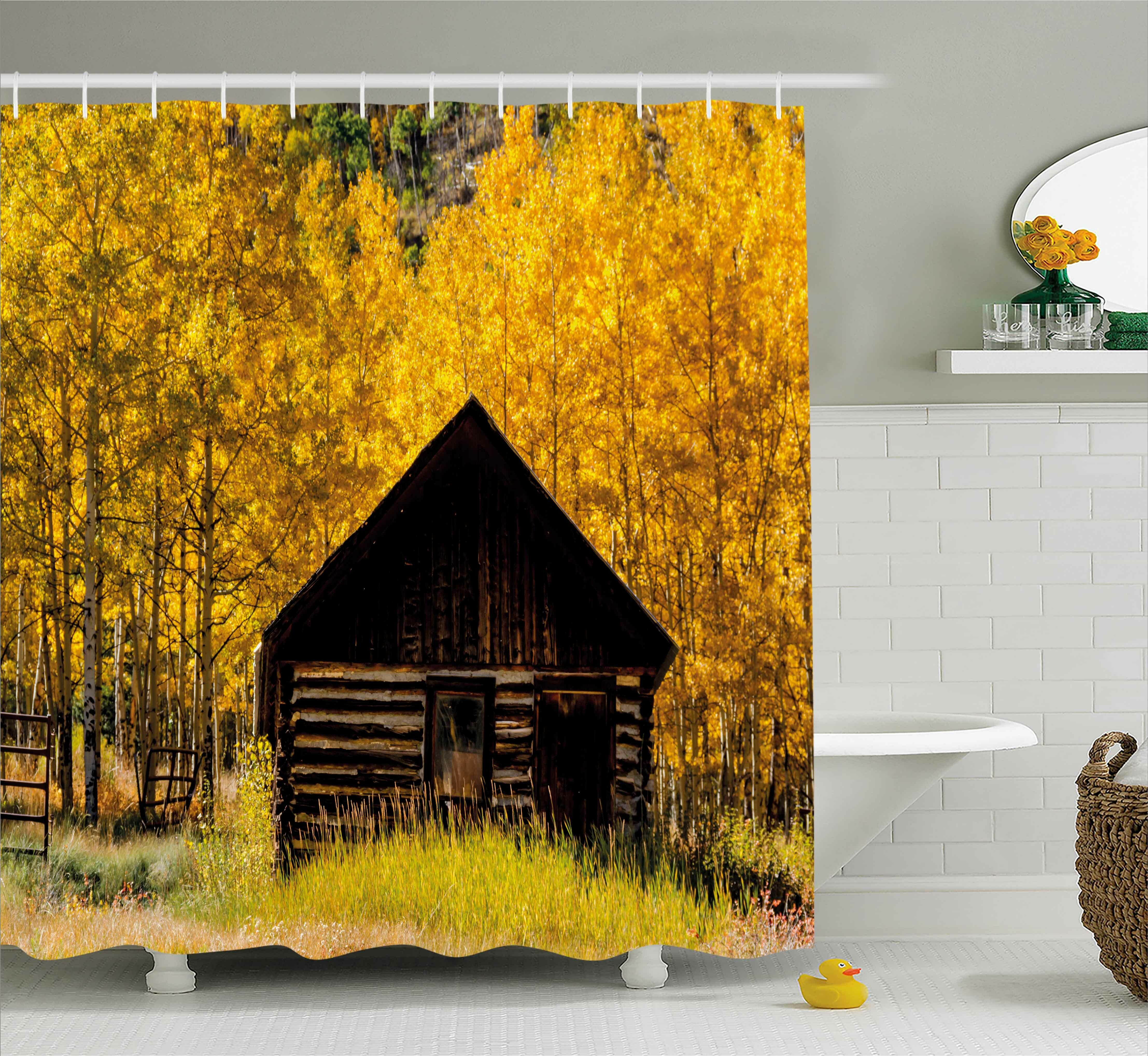 Winston Porter Bleeker Farmhouse in Aspen Tree Shower Curtain | Wayfair