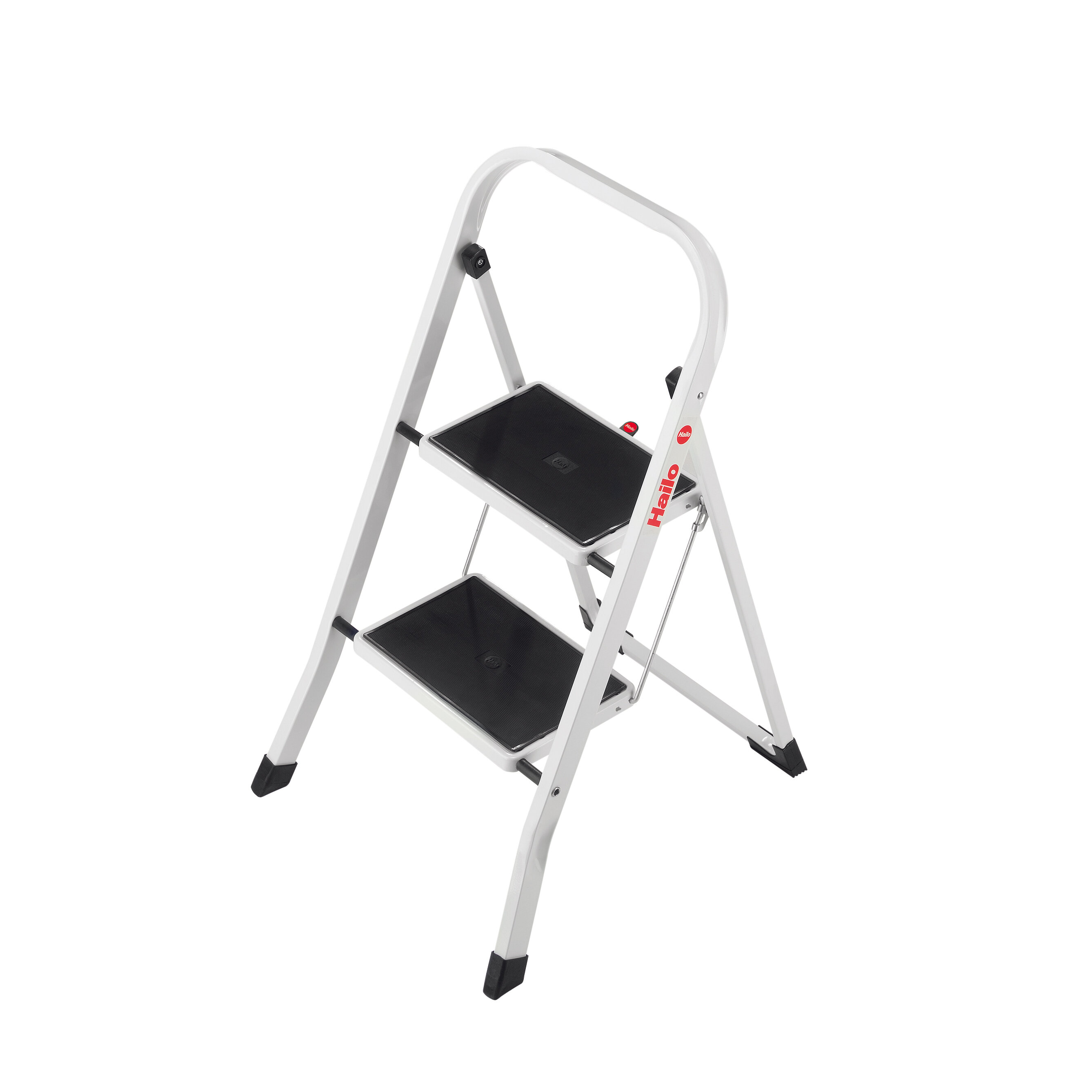 Fold-Up Step Stool Two Step Ladder 330 Lb Capacity Lightweight Safety Non Slip