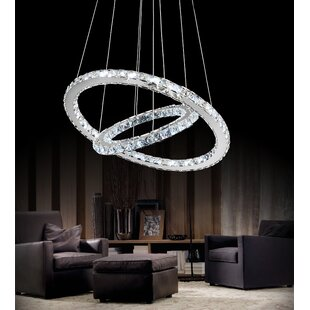 Orren Ellis Bacon LED Light Crystal Chandelier